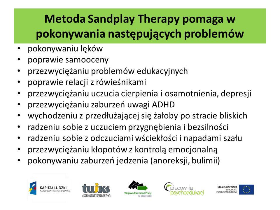 Metoda Sandplay Therapy pomaga w pokonywania następujących problemów