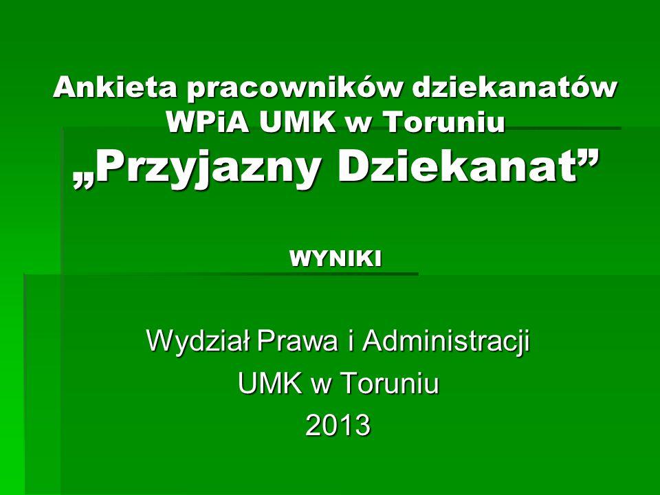 Wydział Prawa i Administracji UMK w Toruniu 2013