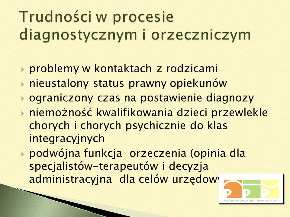 Trudności w procesie diagnostycznym i orzeczniczym