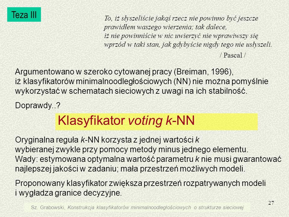 Klasyfikator voting k-NN