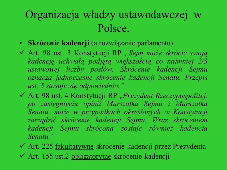 Organizacja władzy ustawodawczej w Polsce.