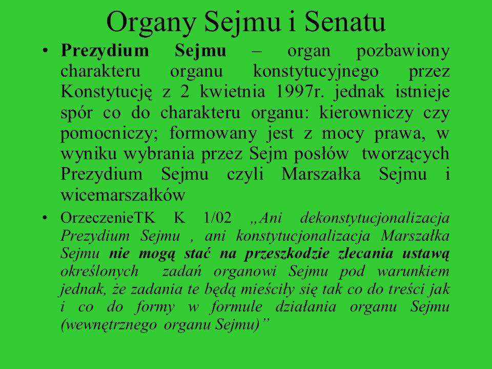 Organy Sejmu i Senatu