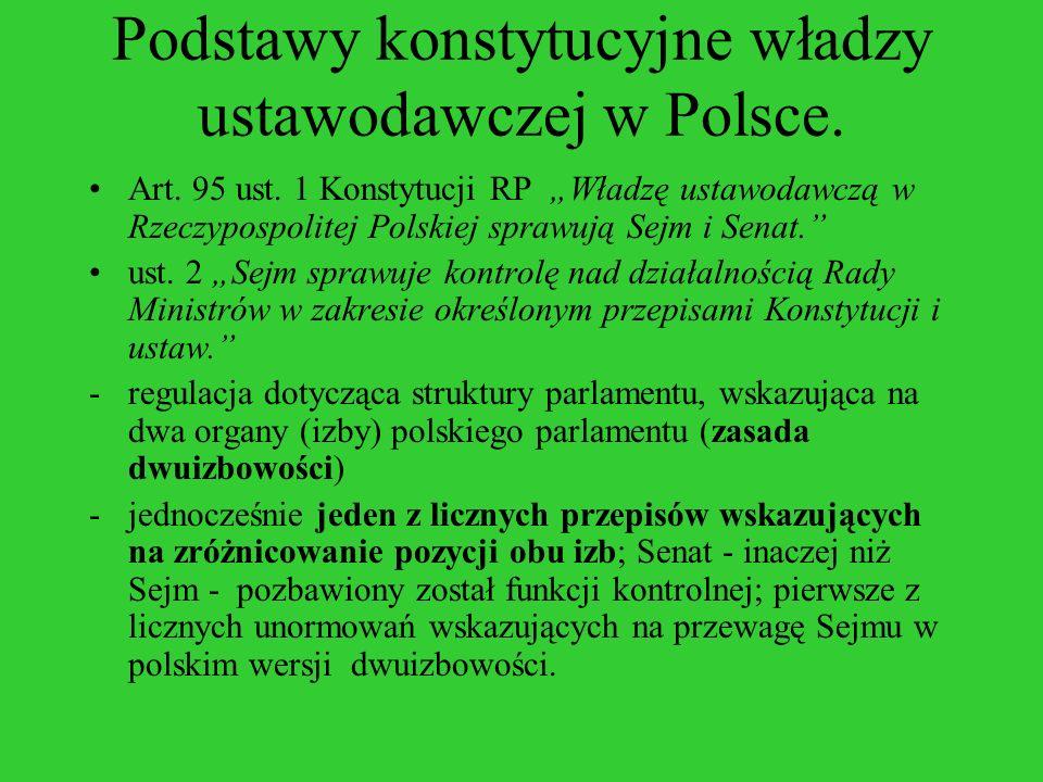 Podstawy konstytucyjne władzy ustawodawczej w Polsce.