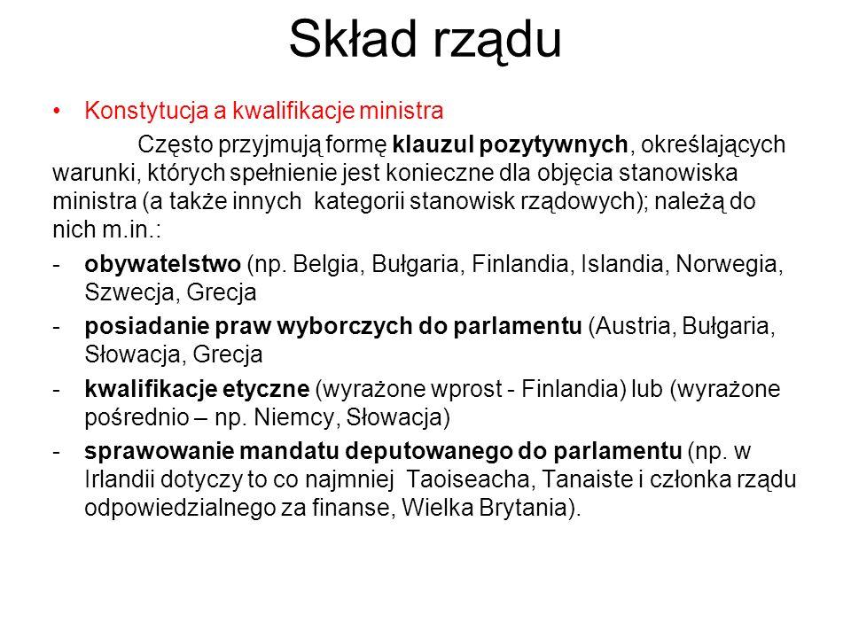 Skład rządu Konstytucja a kwalifikacje ministra