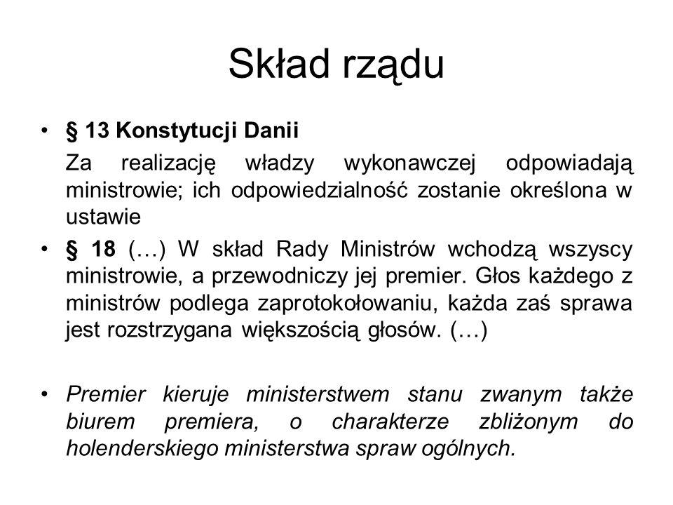 Skład rządu § 13 Konstytucji Danii