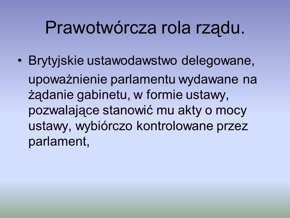 Prawotwórcza rola rządu.