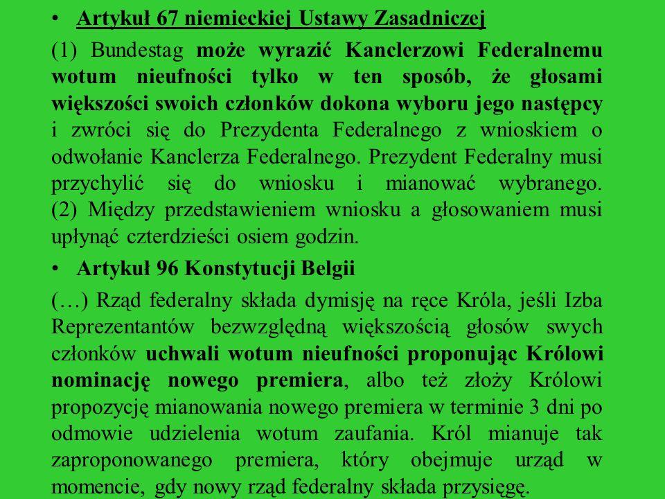 Artykuł 67 niemieckiej Ustawy Zasadniczej