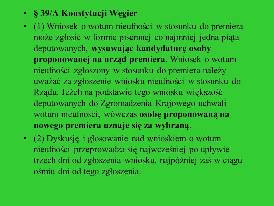 § 39/A Konstytucji Węgier