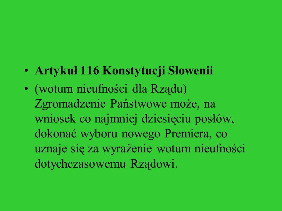 Artykuł 116 Konstytucji Słowenii