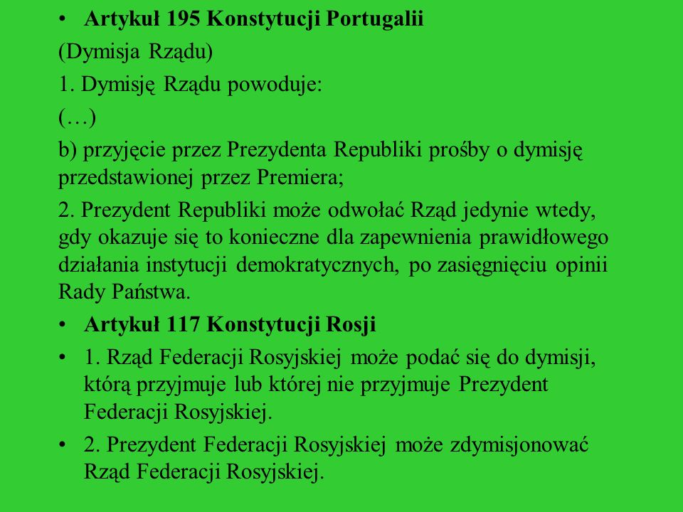 Artykuł 195 Konstytucji Portugalii