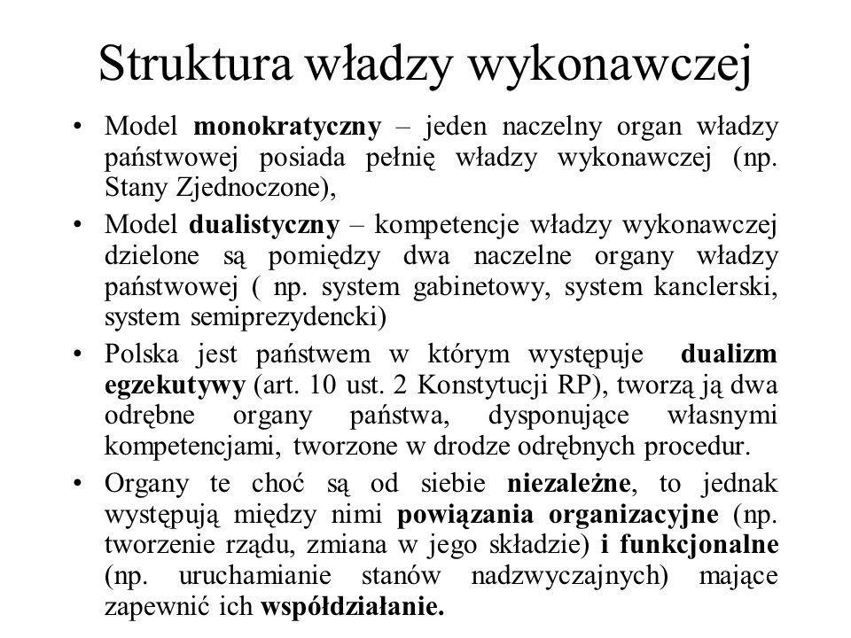 Struktura władzy wykonawczej