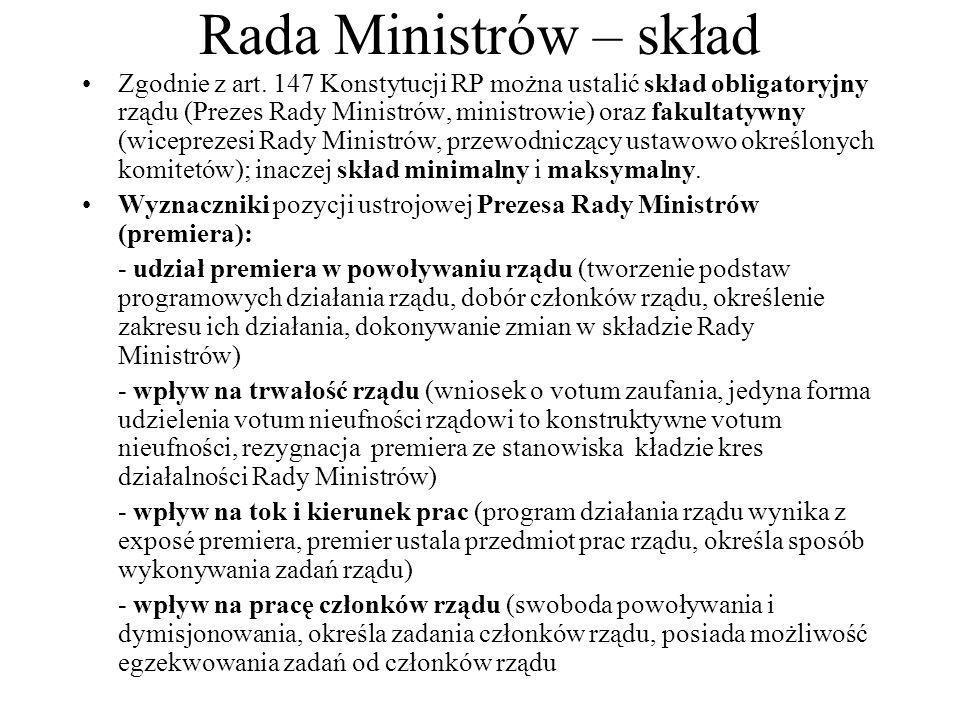 Rada Ministrów – skład