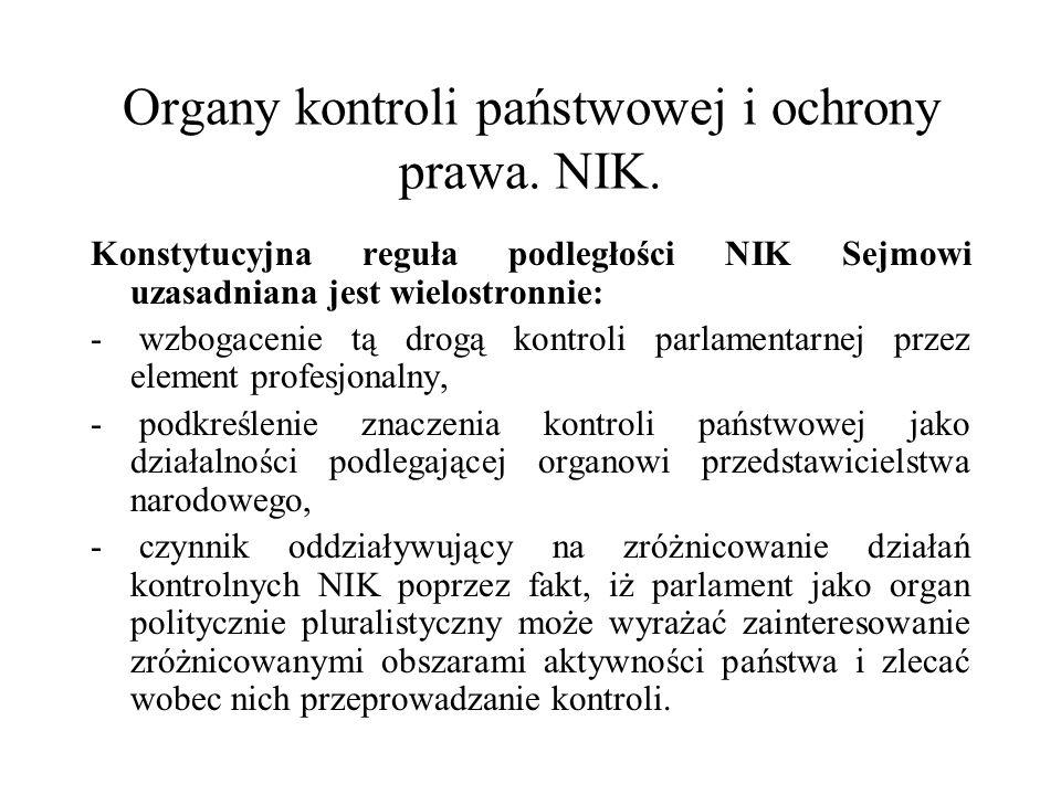 Organy kontroli państwowej i ochrony prawa. NIK.