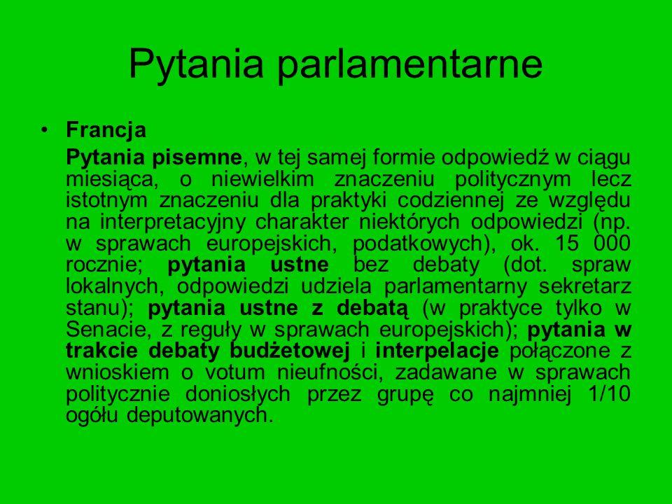 Pytania parlamentarne