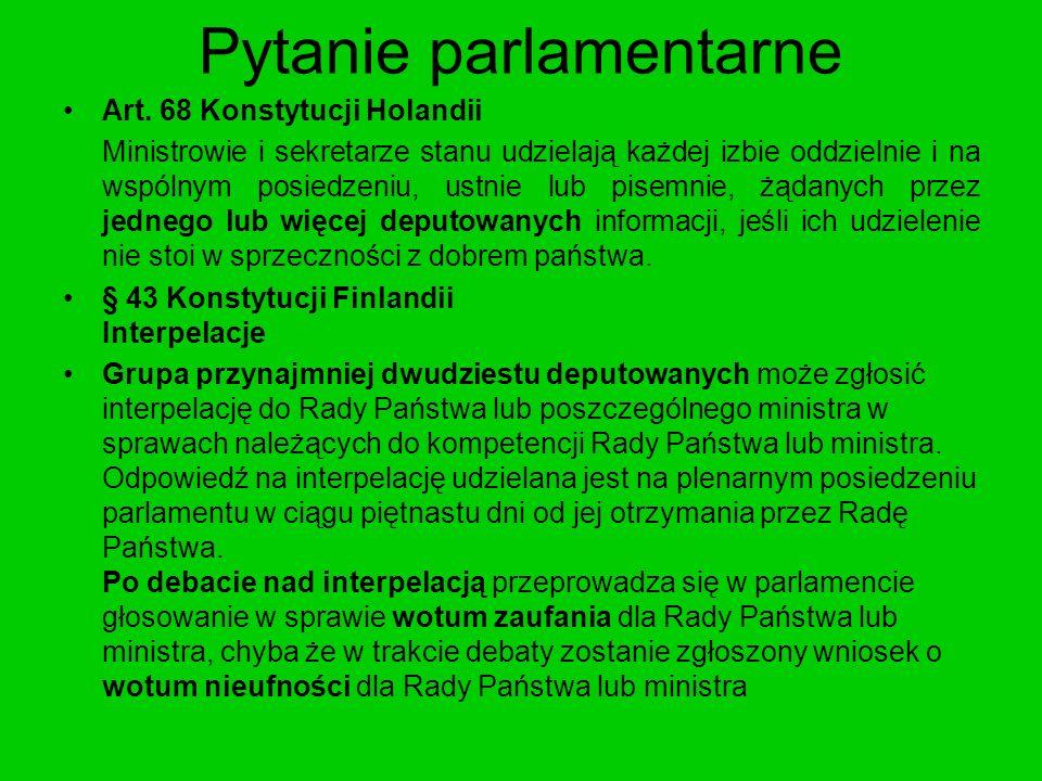 Pytanie parlamentarne