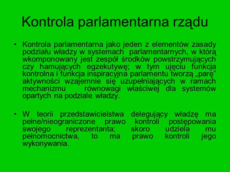 Kontrola parlamentarna rządu