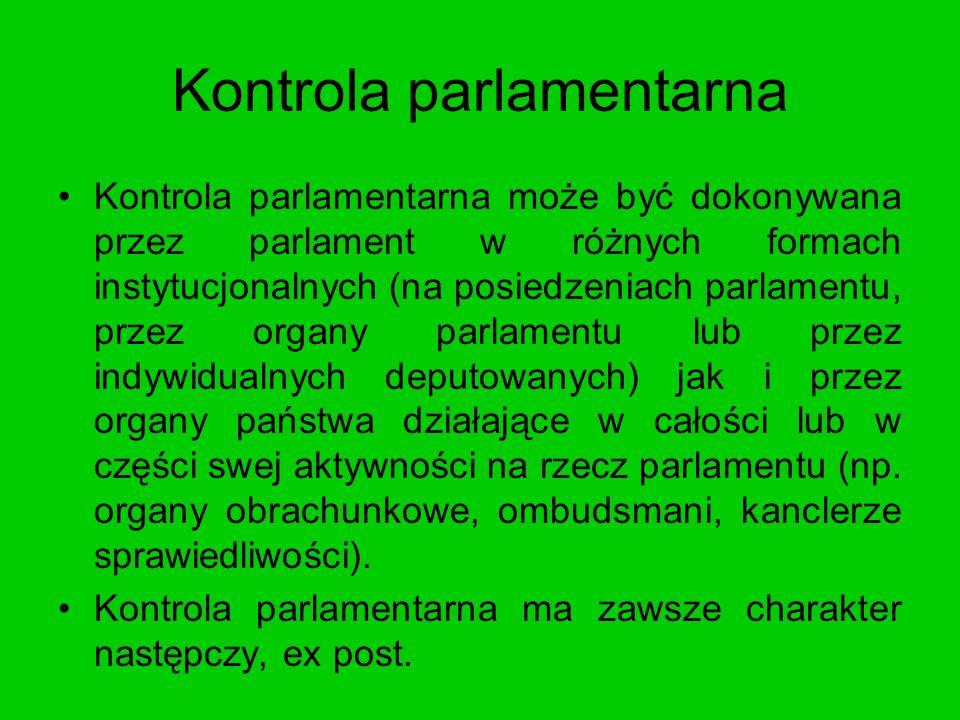 Kontrola parlamentarna
