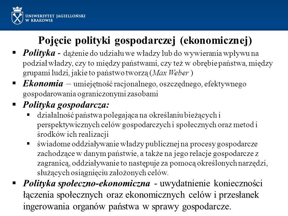 Pojęcie polityki gospodarczej (ekonomicznej)