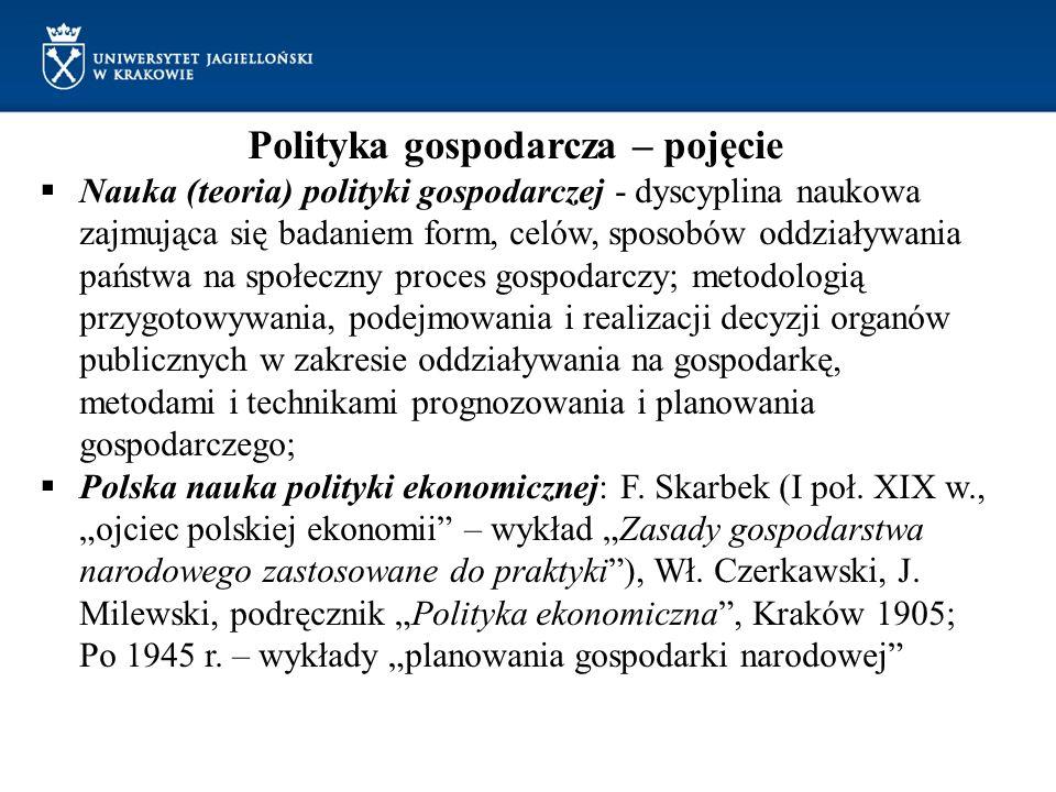 Polityka gospodarcza – pojęcie