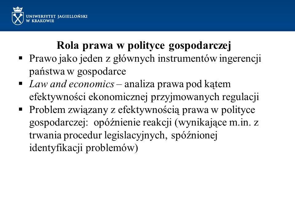 Rola prawa w polityce gospodarczej
