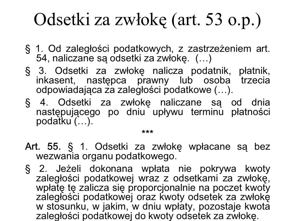 Odsetki za zwłokę (art. 53 o.p.)