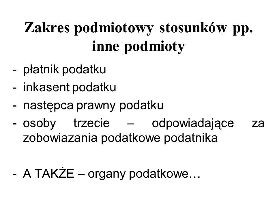Zakres podmiotowy stosunków pp. inne podmioty
