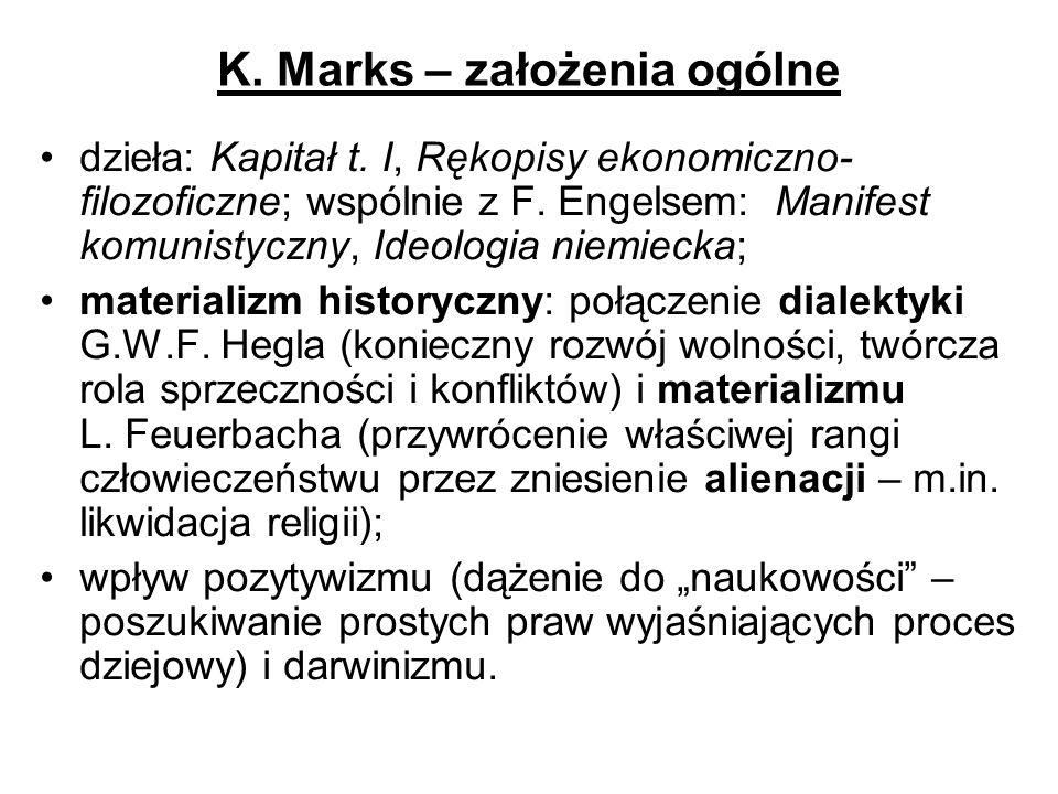K. Marks – założenia ogólne