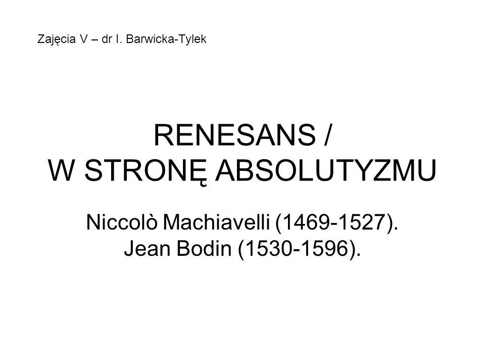 RENESANS / W STRONĘ ABSOLUTYZMU