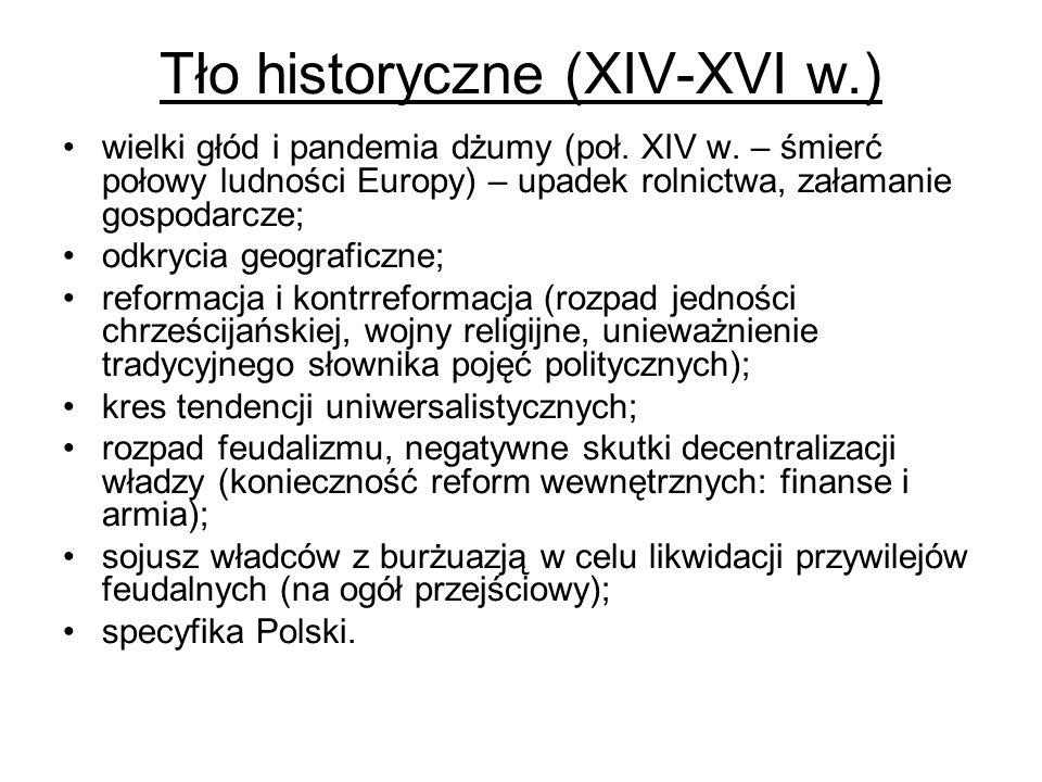 Tło historyczne (XIV-XVI w.)