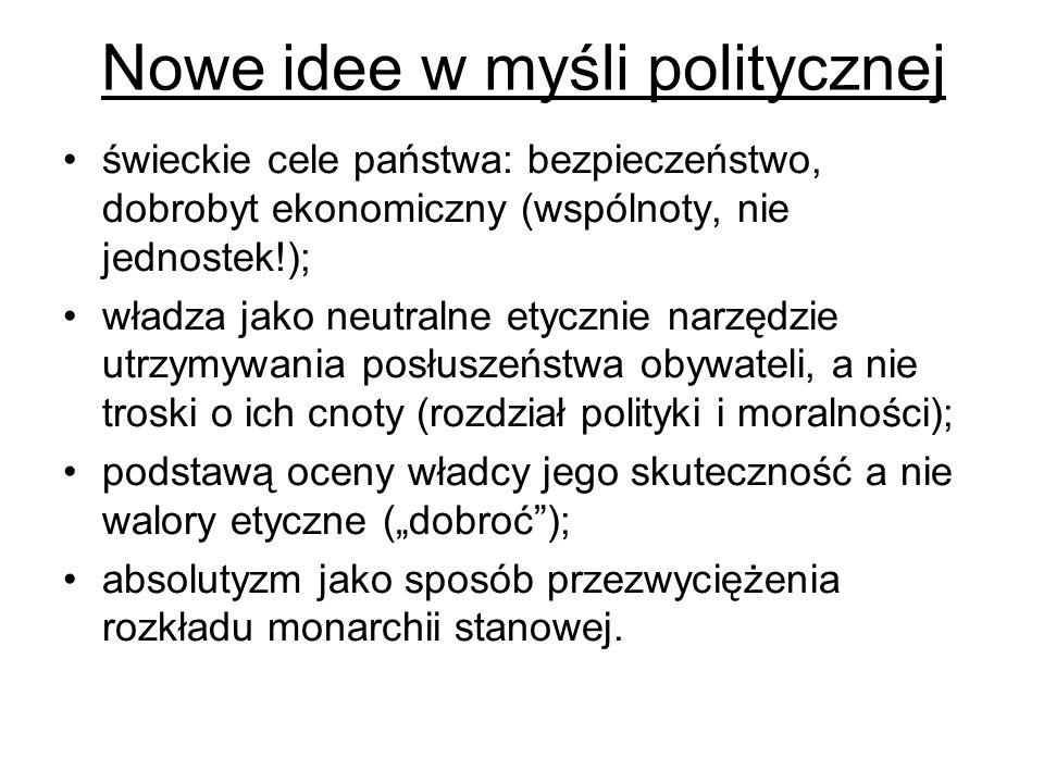 Nowe idee w myśli politycznej