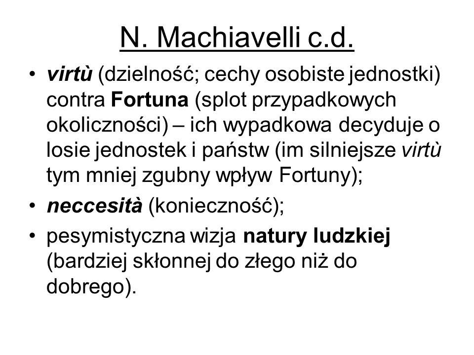 N. Machiavelli c.d.