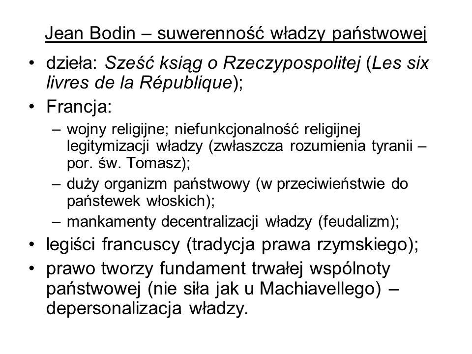 Jean Bodin – suwerenność władzy państwowej