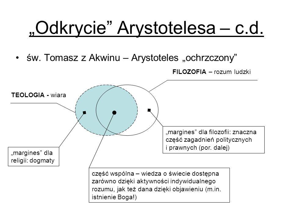 """Odkrycie Arystotelesa – c.d."