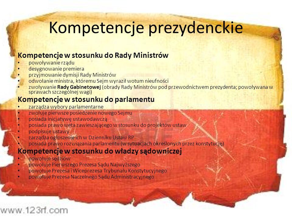 Kompetencje prezydenckie