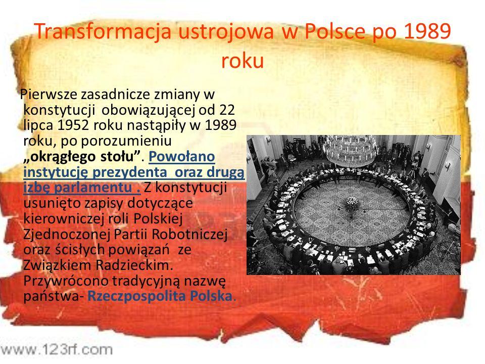 Transformacja ustrojowa w Polsce po 1989 roku