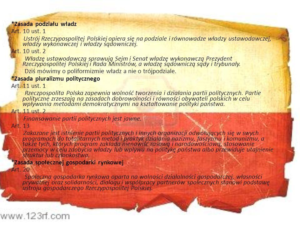 *Zasada podziału władz