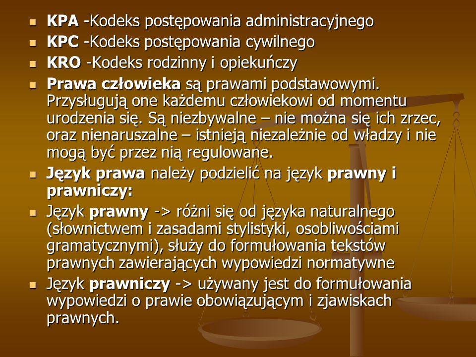KPA -Kodeks postępowania administracyjnego