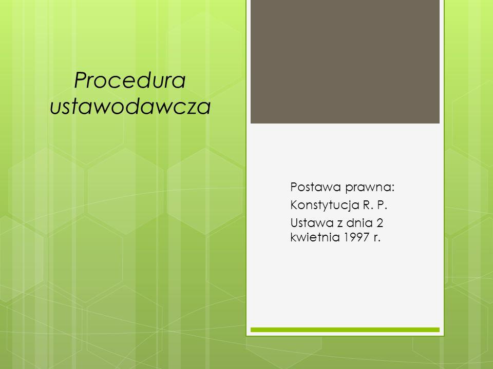 Procedura ustawodawcza