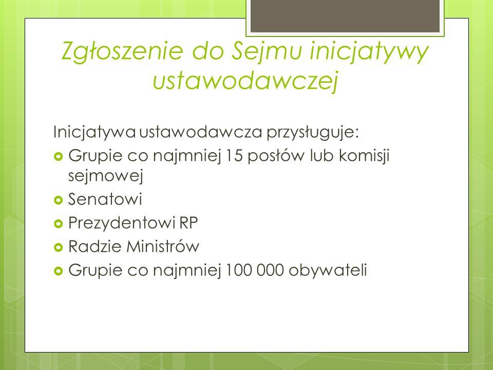Zgłoszenie do Sejmu inicjatywy ustawodawczej