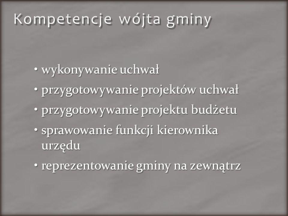 Kompetencje wójta gminy