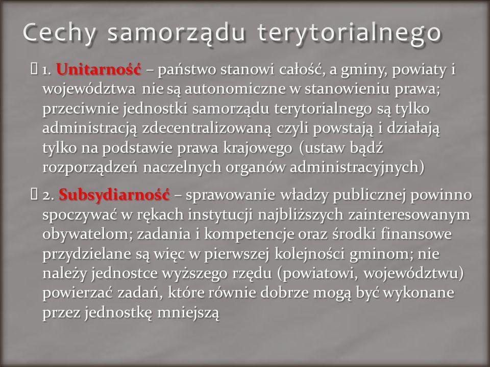 Cechy samorządu terytorialnego