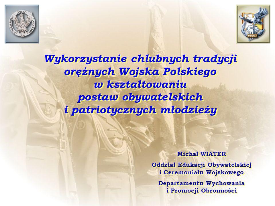 Wykorzystanie chlubnych tradycji orężnych Wojska Polskiego w kształtowaniu postaw obywatelskich i patriotycznych młodzieży