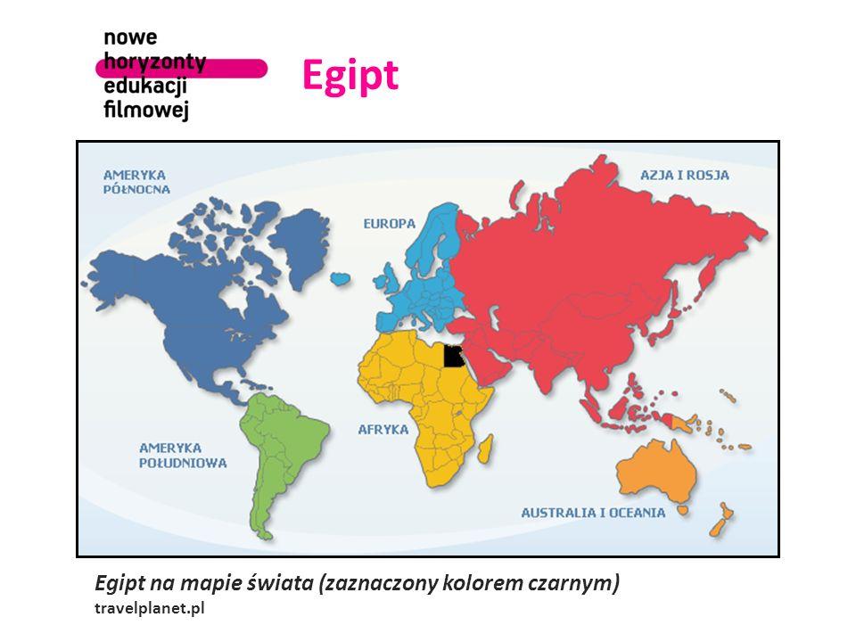 Egipt Egipt na mapie świata (zaznaczony kolorem czarnym)