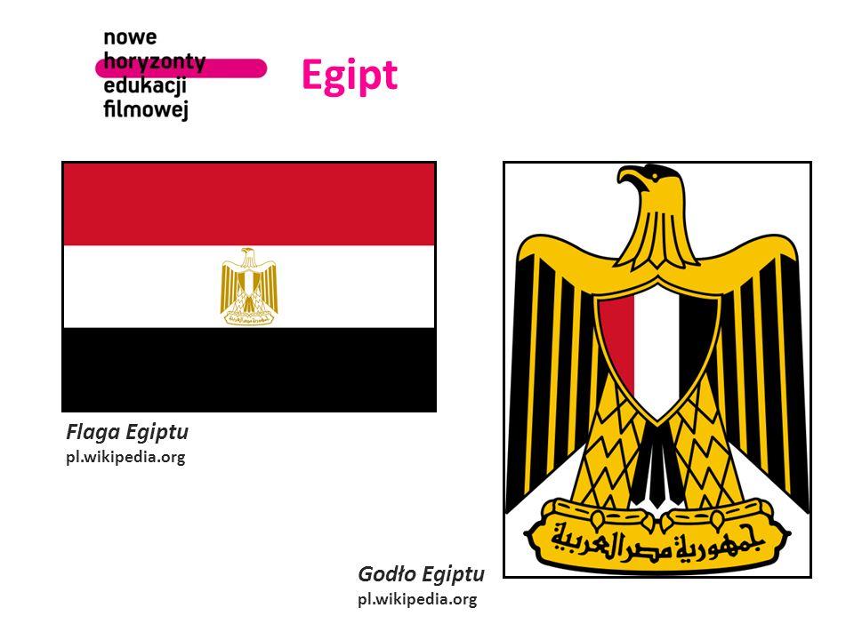 Egipt Flaga Egiptu Godło Egiptu