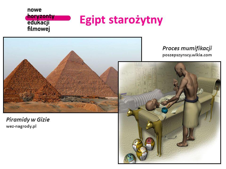 Egipt starożytny Proces mumifikacji Piramidy w Gizie