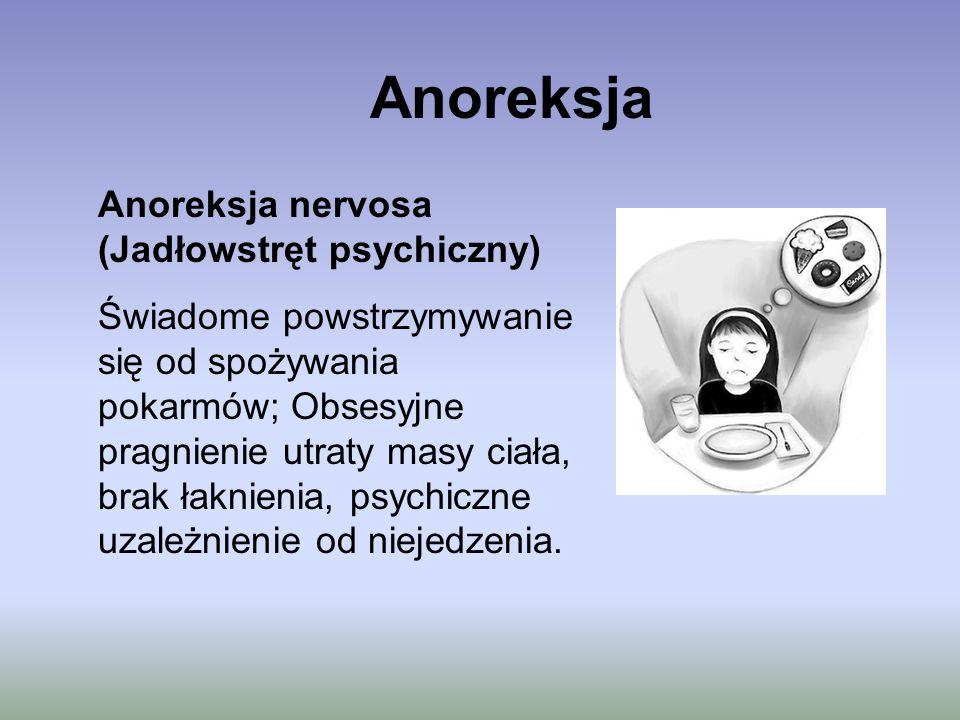 Anoreksja Anoreksja nervosa (Jadłowstręt psychiczny)