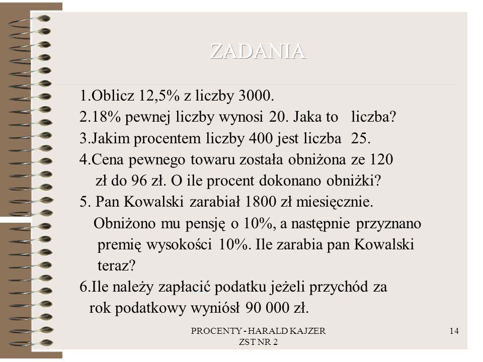 PROCENTY - HARALD KAJZER ZST NR 2