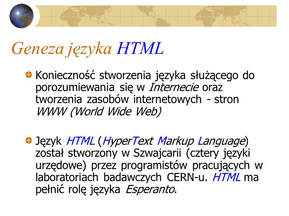 Geneza języka HTML