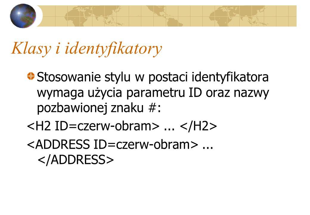 Klasy i identyfikatory