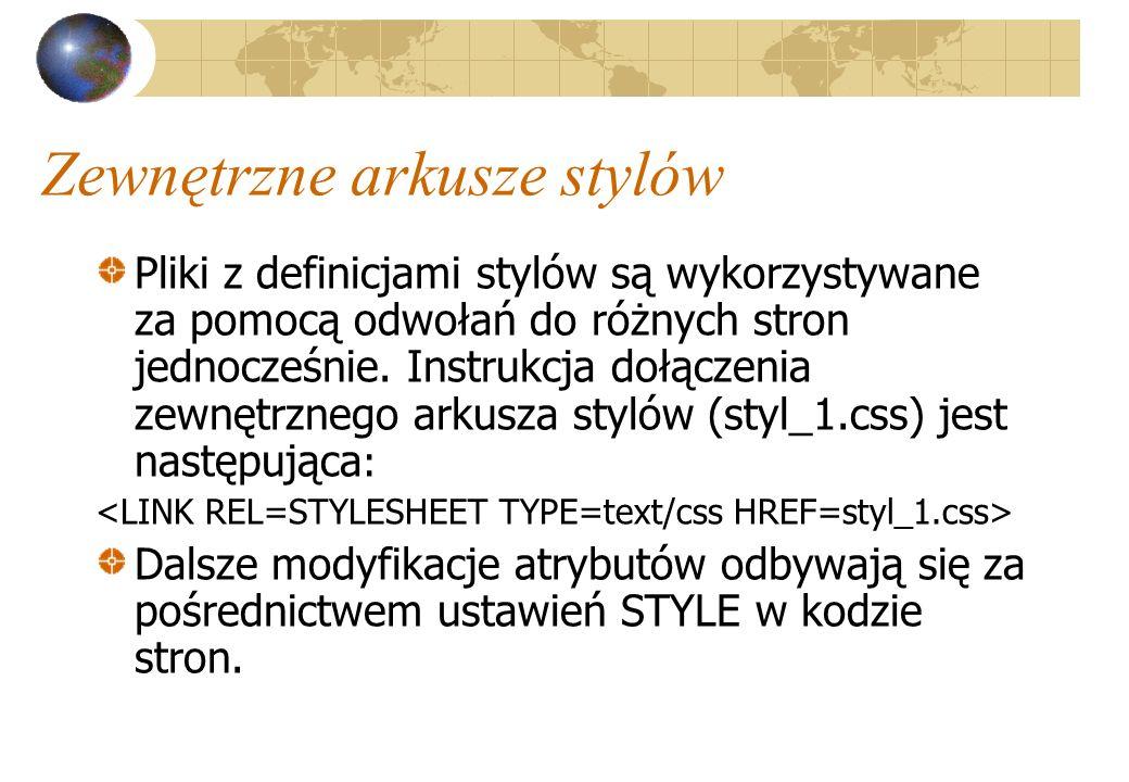 Zewnętrzne arkusze stylów